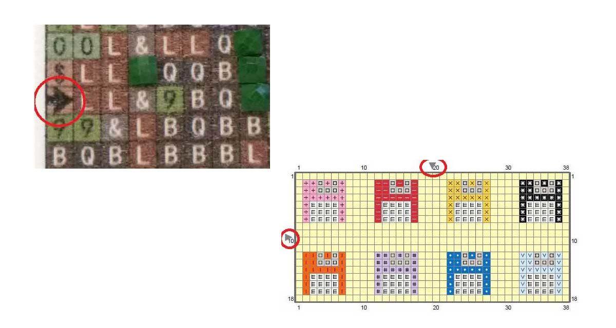 No black arrow on the symbol chart