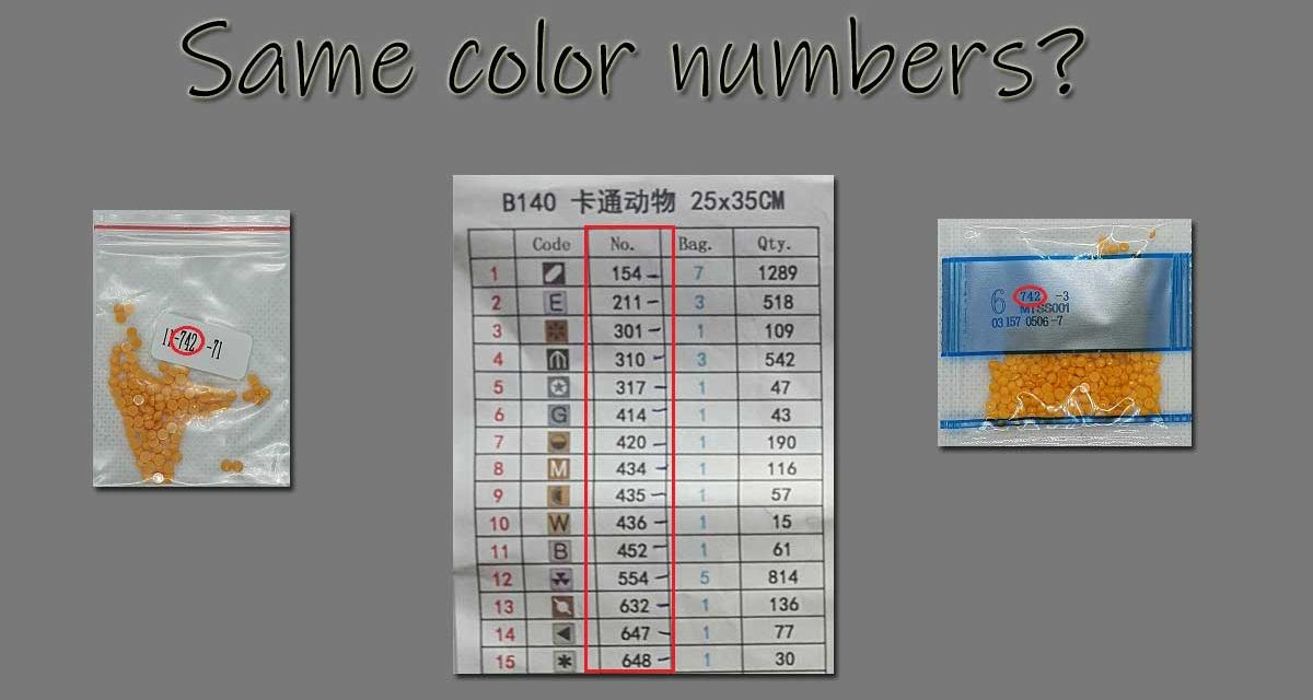 Are color numbers always same?