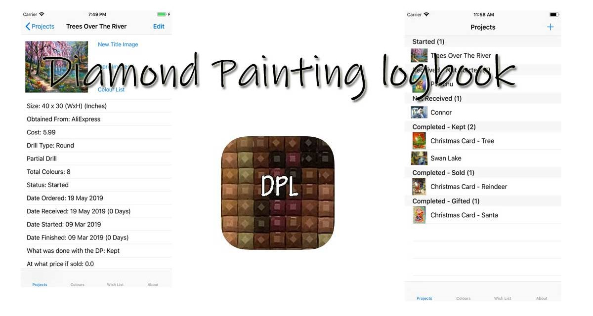 Diamond Painting logbook – app for Diamond Painting