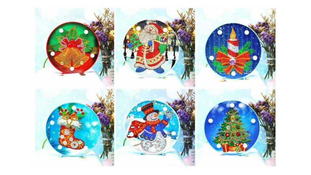 lamps with Christmas motifs