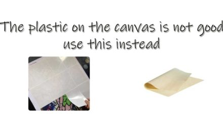 The plastic on the canvas is not good