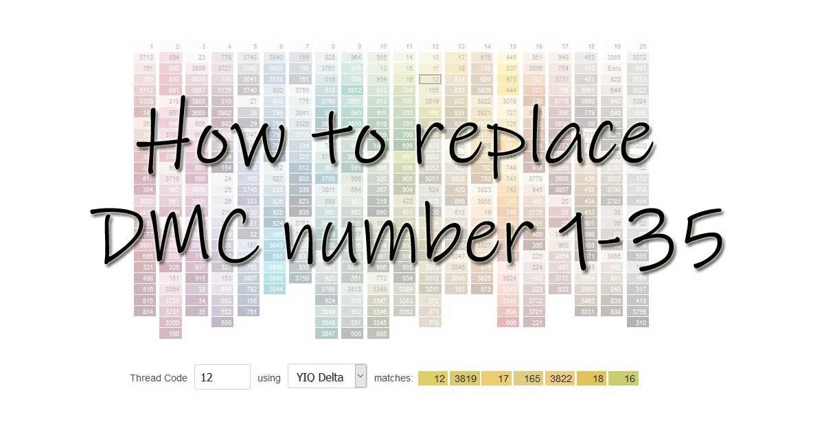 Missing DMC number 1-35