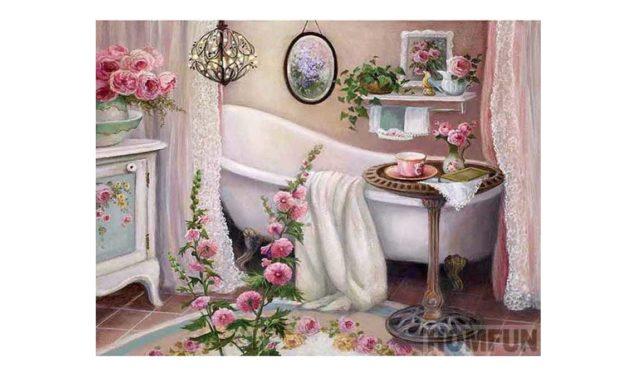 Week 36 – Flowers in a bathroom