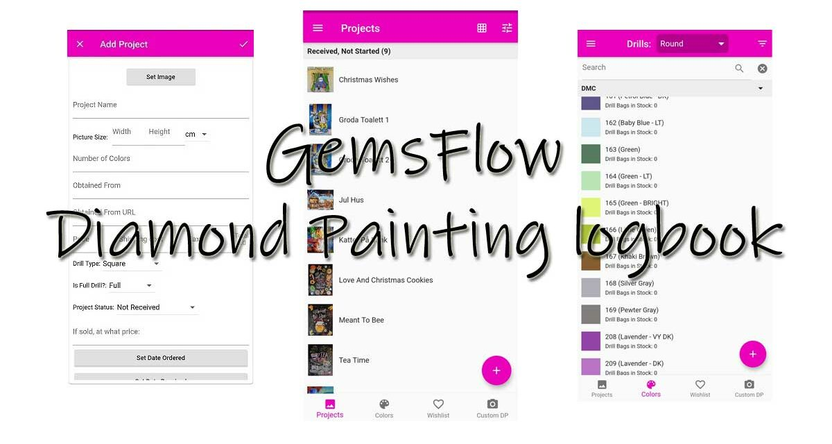 Gemsflow – Diamond Painting logbook