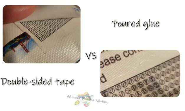 Poured glue vs double-sided tape