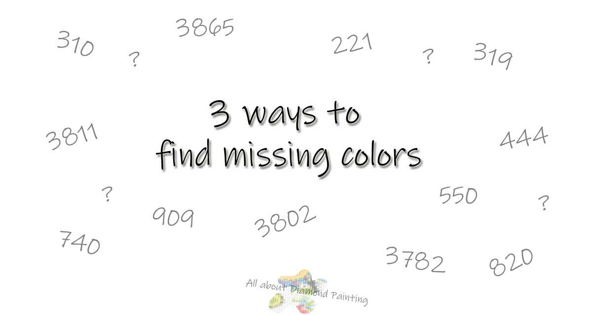 3 ways to find missing colors
