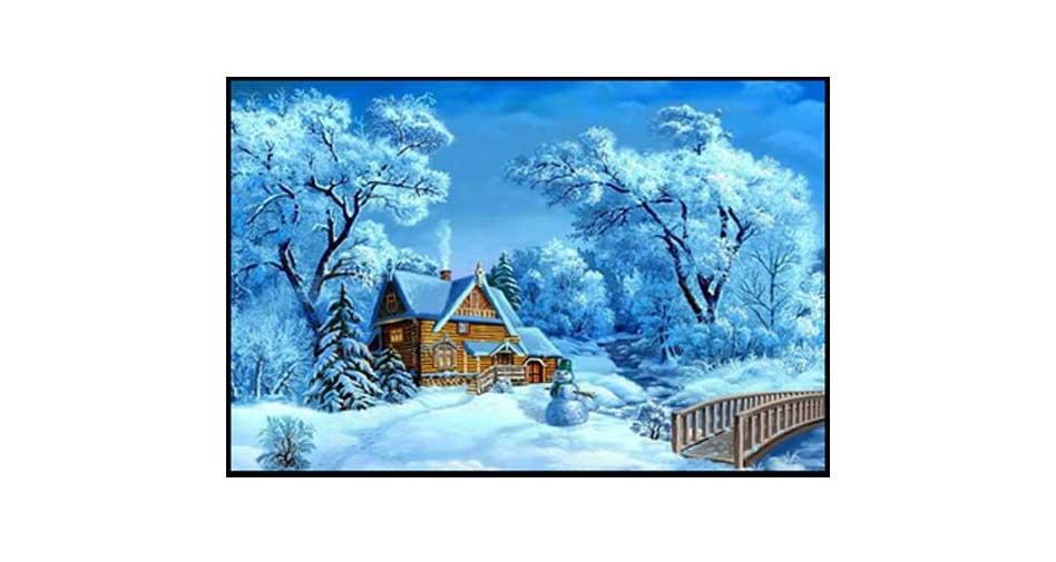 house in a snowy blanket