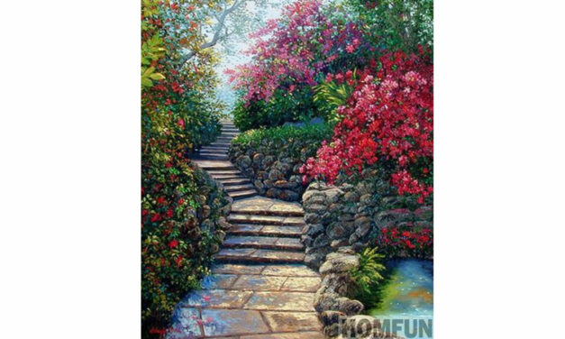 Week 17 – Staircase surrounded by flowers
