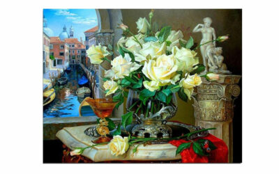 Week 22 – Roses on a marble table