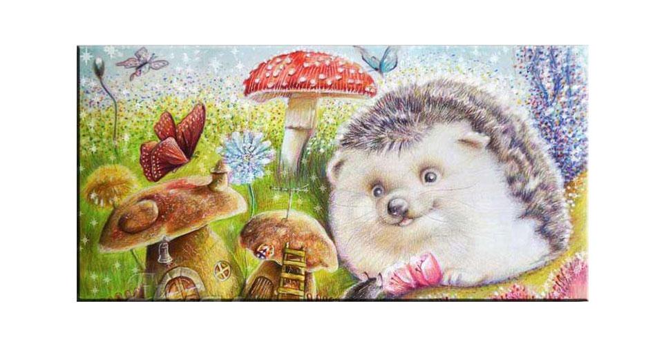 hedgehog and mushroom houses